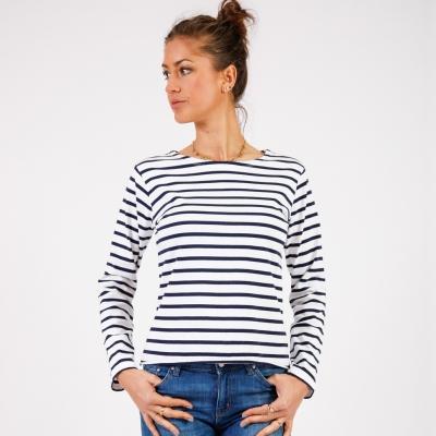 White navy sailor shirt