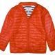 Orange down jacket