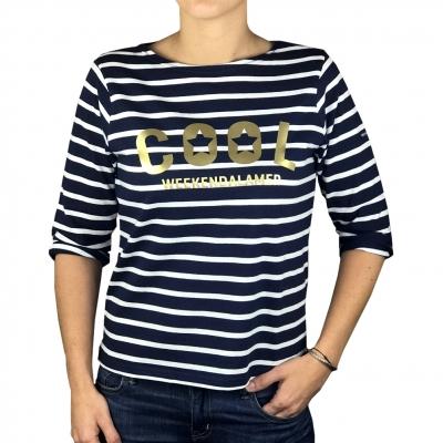Golden print sailor-shirt
