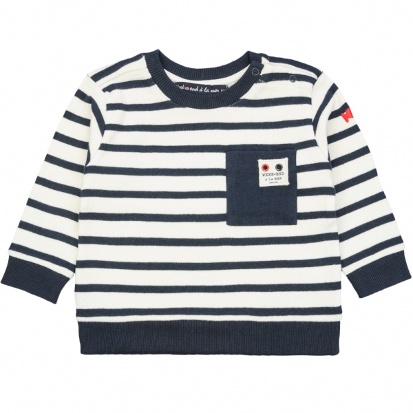 Ecru navy sweater