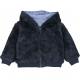 Reversible blue sweater