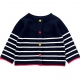 Navy ecru jacket / sweater