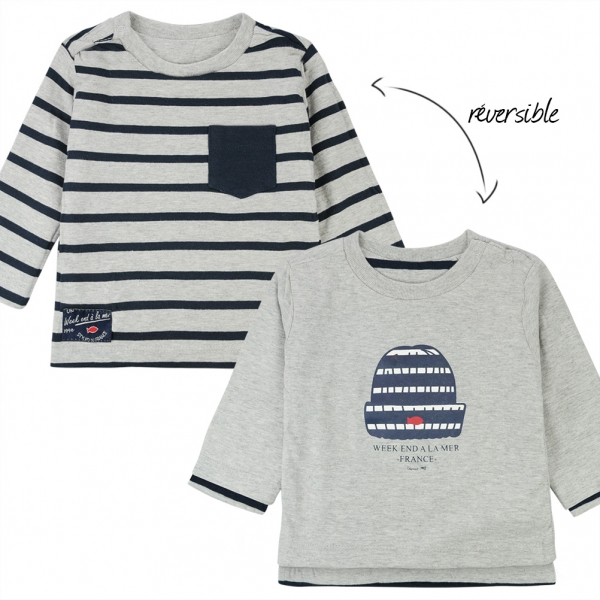 Reversible grey t-shirt