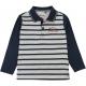 Grey navy polo-shirt
