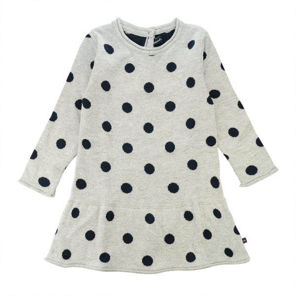 Dotted grey dress