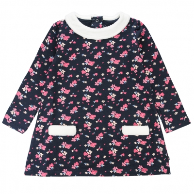Flowery fleece dress