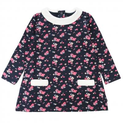 Robe molleton à fleurs