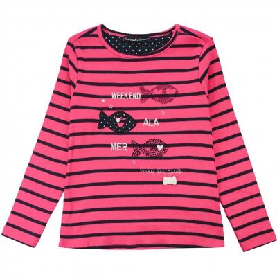 Tee-shirt fushia marine