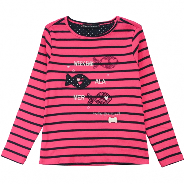 Fushia navy t-shirt