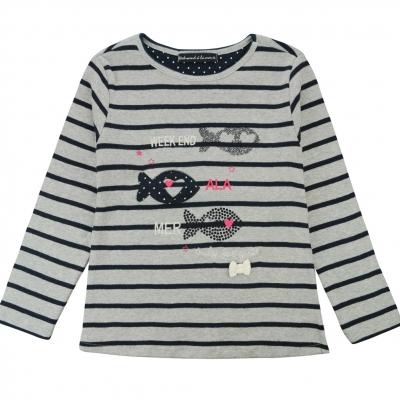 Tee-shirt gris marine