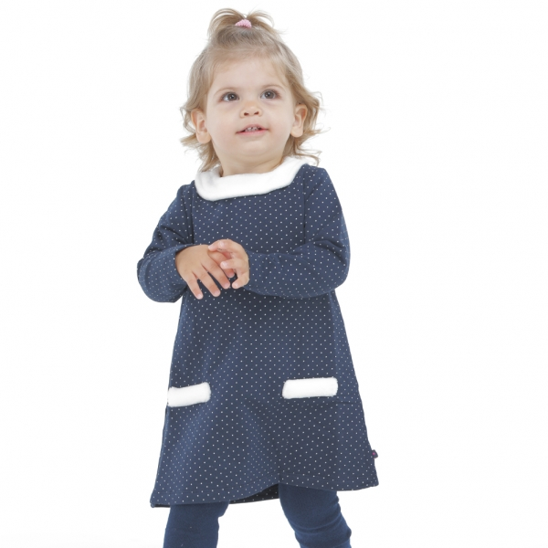 Dotted fleece dress