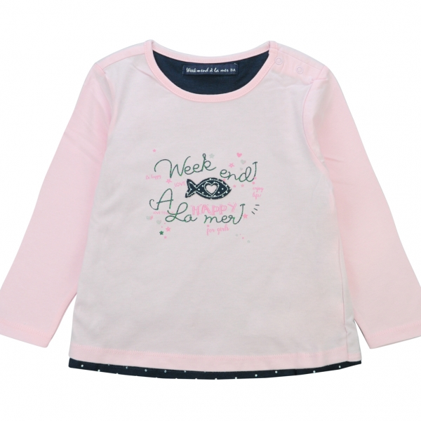 Pink lined t-shirt