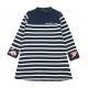 Navy ecru dress