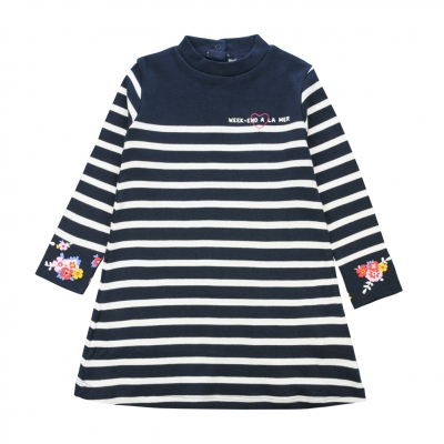 Robe marine écru