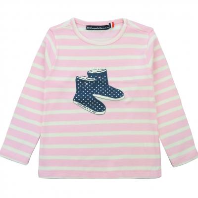 Tee-shirt rose écru