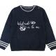 Stitch navy sweater