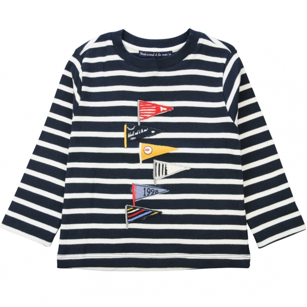 Navy ecru t-shirt