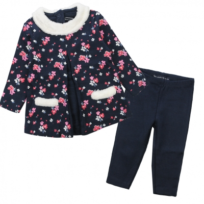 Flower-printed set