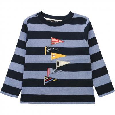 Tee-shirt bleu rayé marine