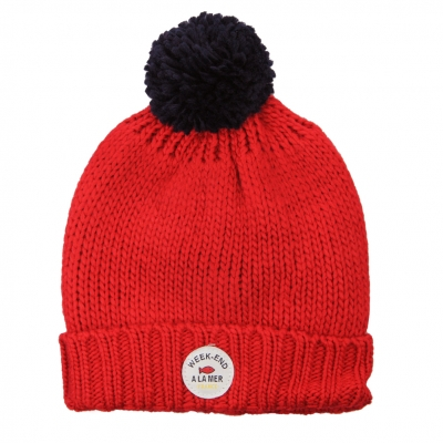 Red stitch hat
