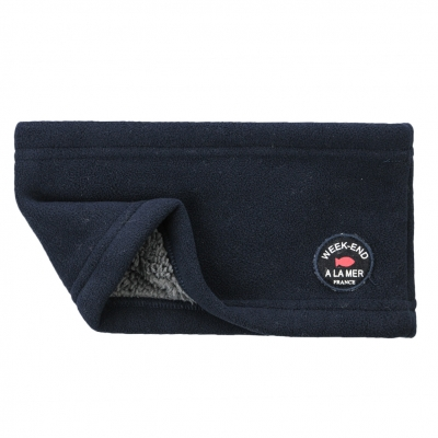 Navy neck warmer