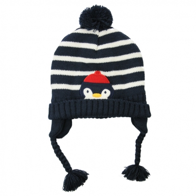 Striped stitch hat