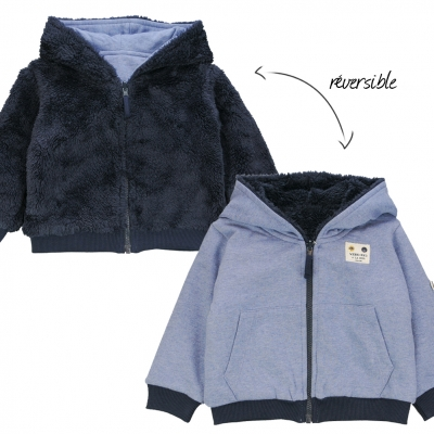 Reversible blue sweater