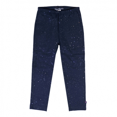 Navy leggings with glitter