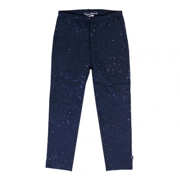 Navy leggings with glitter