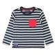 Navy ecru t-shirt