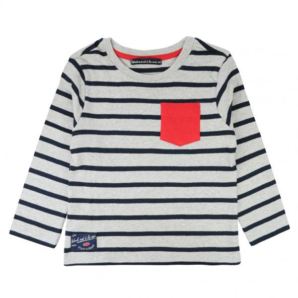 Grey navy t-shirt