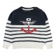 Stitch ecru navy sweater