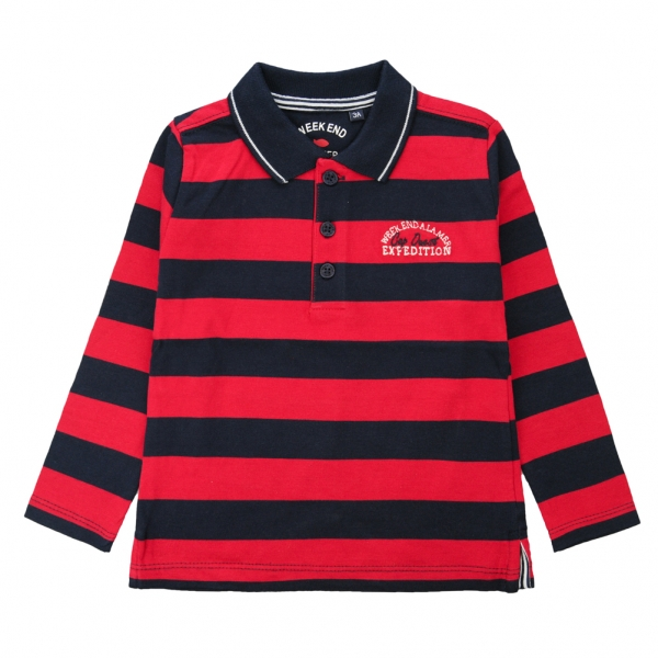 Red navy polo-shirt