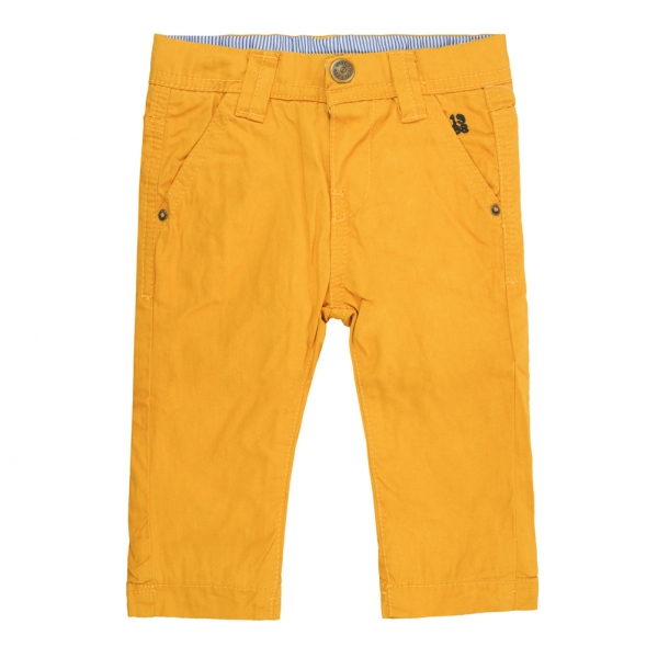 Lined yellow pants