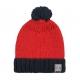 Red stitch hat