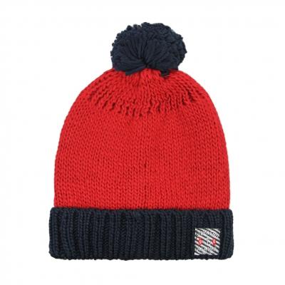 Bonnet rouge en maille