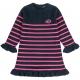 Navy fushia stitch dress