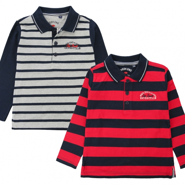 Pack of 2 polo-shirts