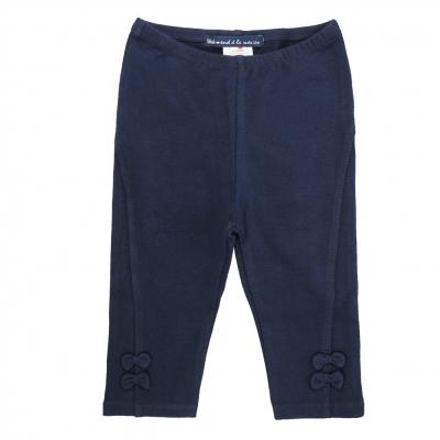 Spotted navy leggings