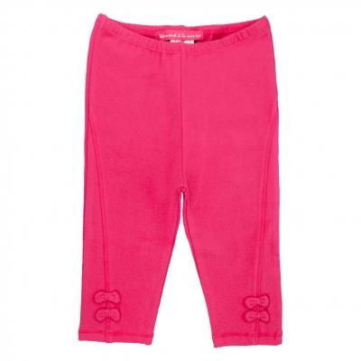 Spotted raspberry leggings