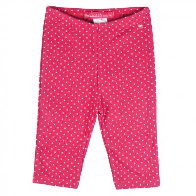 Dotted raspberry leggings