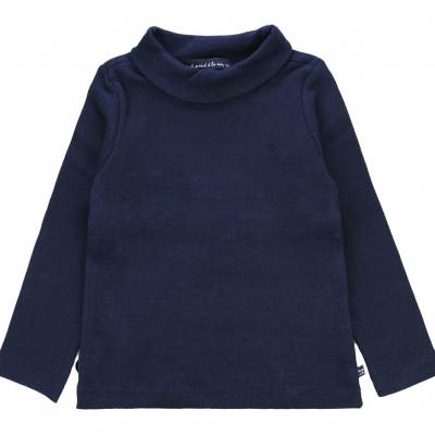 Navy polo neck jumper