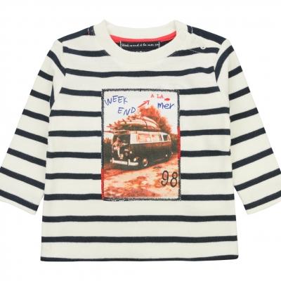 Tee-shirt écru marine