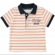White neon-orange polo