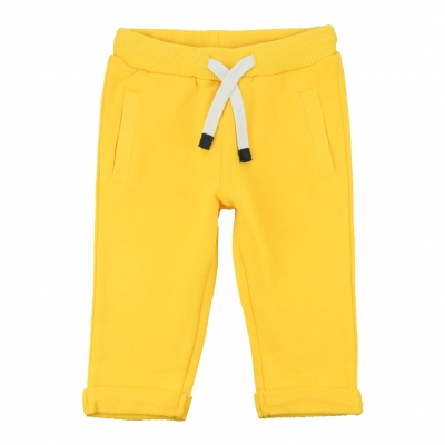 Felt yellow jogging pants