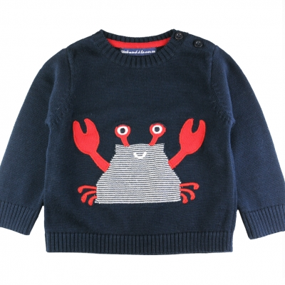 Stitch navy sweater