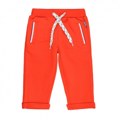Orange jogging pants