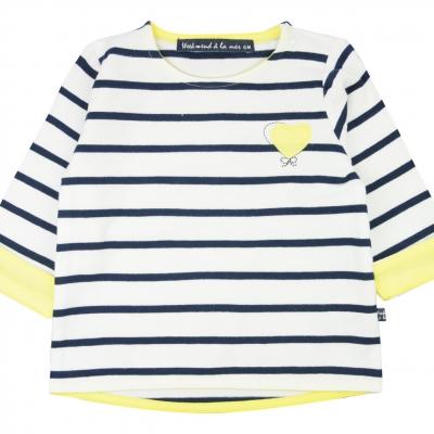 White navy sailor-shirt