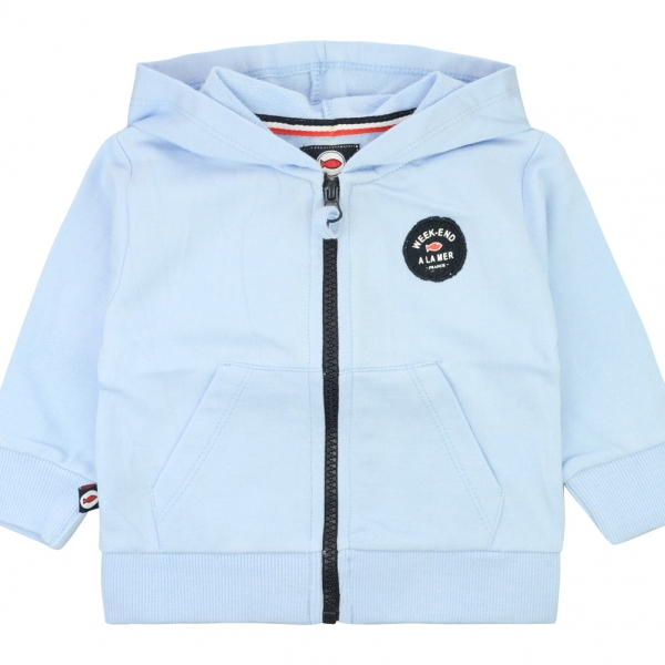 Hooded sky blue sweater