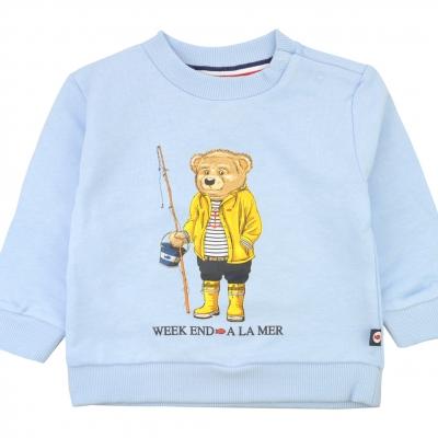 Sky blue fleece sweater